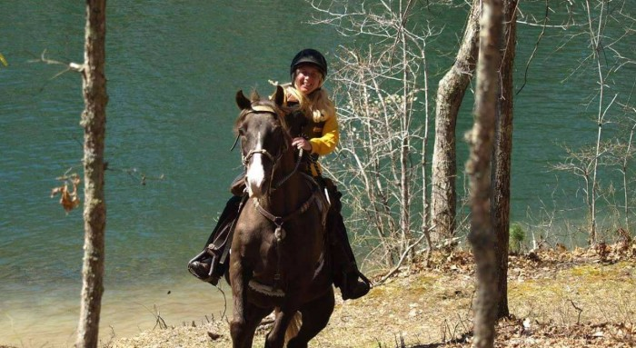 Competitive trail riding with my Steele saddle.
